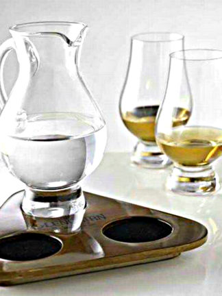Glencairn Whisky Flight Tray Tasting Set - 2 Glasses & Water Jug