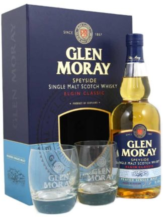 Glen Moray Classic Peated Glass Gift Pack