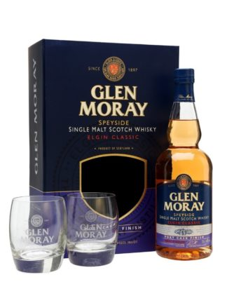 Glen Moray Port Cask Finish Glass Gift Pack