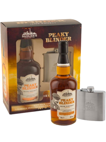 Peaky Blinder Whiskey with Hip Flask Gift Pack