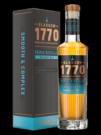 Glasgow Distillery 1770 Triple Distilled Single Malt Whisky Release No.1