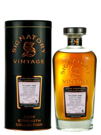 Signatory Vintage Pulteney 2008 12 Year Old Sherry Cask Strength Collection
